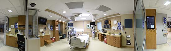 ICU panoramic photo